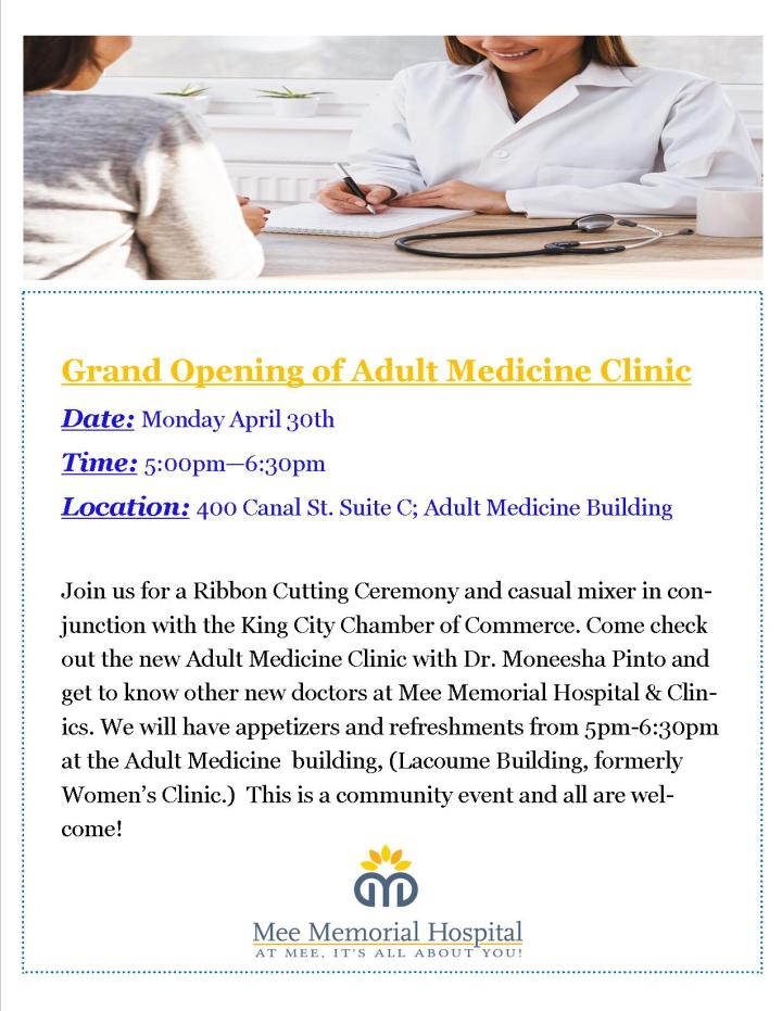 Grand Opening Adult Clinic
